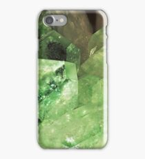 Green Glitter (Apophyllite) iPhone Case/Skin