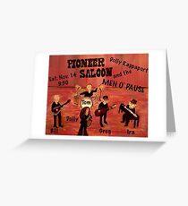 Port Dahlia Pioneer Saloon Greeting Card