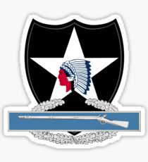 2nd Infantry Combat Infantry Badge (CIB) Sticker