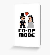Co-op Mode - Newly Wed Gamer Couple Greeting Card