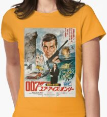Japanese 007 Poster Womens Fitted T-Shirt