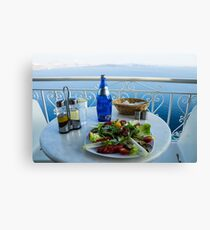 Greece islands Santorini and wine Canvas Print