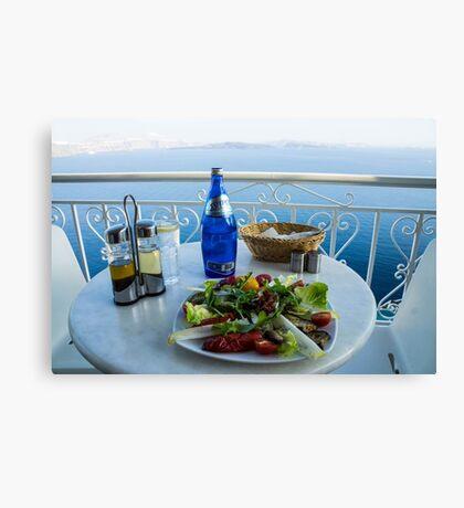 Greece islands Santorini and wine Canvas Print