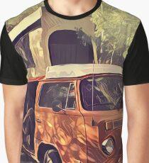 Orange Vintage VW Westfalia Camping Graphic T-Shirt