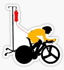 Cyclist Blood Doping Sticker