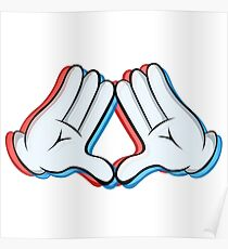 Stereoscopic swag hand Poster
