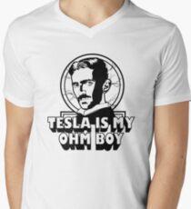 Tesla Is My Ohm Boy Men's V-Neck T-Shirt