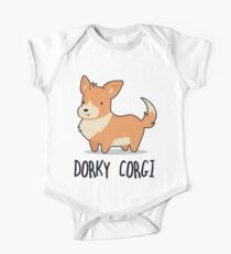 Dorky Corgi One Piece - Short Sleeve