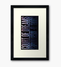 the two courts Framed Print