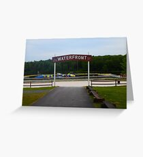 Trail's End Camp Waterfront Greeting Card