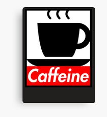 Caffeine coffee cup obey poster (I love coffee) Canvas Print