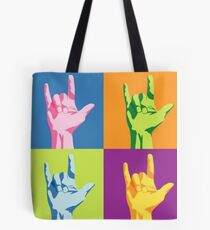 ASL-I Love You Sign Tote Bag
