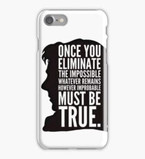 sherlock impossible iPhone Case/Skin