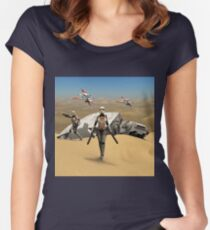 Sexy Sci-Fi 7 Women's Fitted Scoop T-Shirt