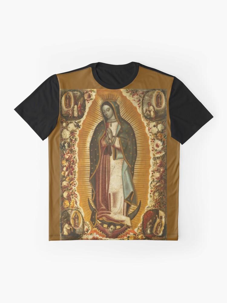 Alternative Ansicht von Unsere Liebe Frau von Guadalupe, Jungfrau Maria, Gottesmutter Grafik T-Shirt