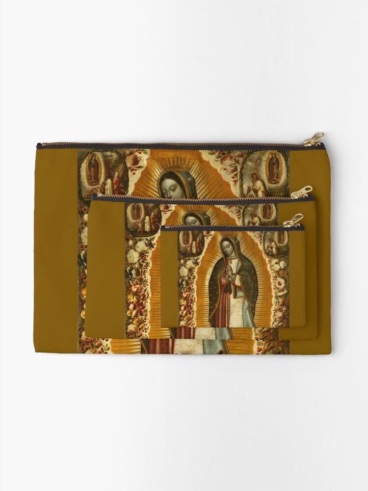 Alternative Ansicht von Unsere Liebe Frau von Guadalupe, Jungfrau Maria, Gottesmutter Täschchen