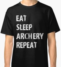 Eat Sleep Archery Repeat T-Shirt Gift For High School Team College Cute Funny Gift Player Sport T Shirt Tee  Classic T-Shirt