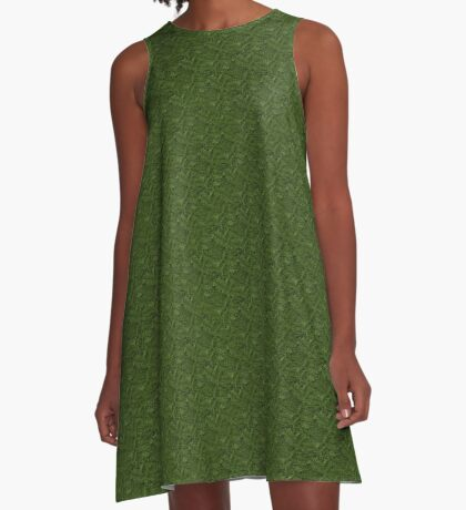 Spruce Tree Pattern A-Line Dress