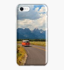 Vintage Volkswagen Westfalia Bus in the Mountains iPhone Case/Skin