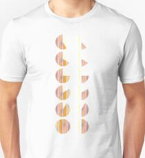 Watercolor handdrawn infographic circle and round Unisex T-Shirt