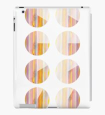 Watercolor handdrawn infographic circle and round iPad Case/Skin