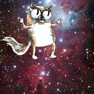 cosmic cartoon cat by HiddenStash