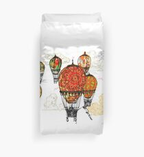 Royal Hot Air Balloon Race Duvet Cover