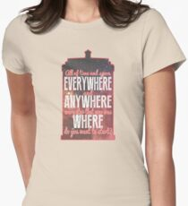 All of Time and Space... Womens Fitted T-Shirt