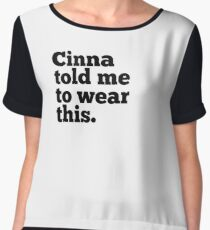 Cinna  Women's Chiffon Top