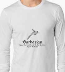 DnD - Barbarian Long Sleeve T-Shirt