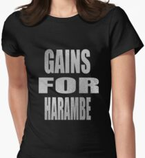 gain for harambe Womens Fitted T-Shirt