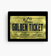 willy wonka golden ticket Canvas Print
