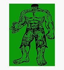 Incredible Hulk Digital Artwork Photographic Print