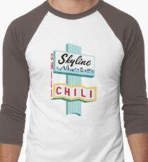 Camiseta ¾ estilo béisbol Signo de Cincinnati Skyline Chili Ludlow Ave
