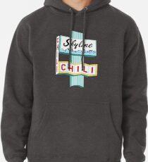 Cincinnati Skyline Chili Ludlow Ave Sign Pullover Hoodie