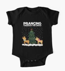 Cute Funny Prancing Through the Snow Kids Clothes