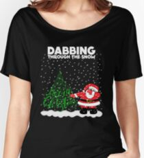 Cute Funny Dabbing Through the Snow Women's Relaxed Fit T-Shirt
