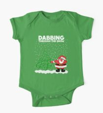 Cute Funny Dabbing Through the Snow Kids Clothes