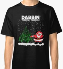 Cute Funny Dabbin' Through the Snow Classic T-Shirt