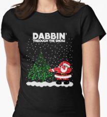 Cute Funny Dabbin' Through the Snow T-Shirt