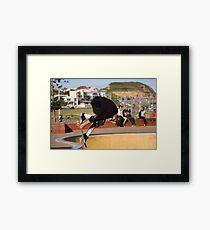 Backside Tuck-Knee Indy Air Framed Print