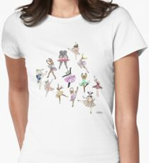 Animal Ballerinas Womens Fitted T-Shirt