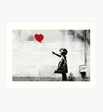 Banksy - Girl with a balloon Art Print