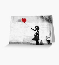 Banksy - Girl with a balloon Greeting Card