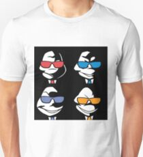 Turtles in Black - Black and White Unisex T-Shirt