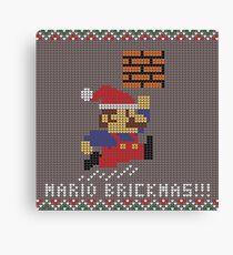 Mario Brickmas!!! Canvas Print