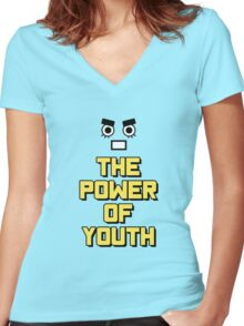 Rock Lee - The Power of Youth!! Women's Fitted V-Neck T-Shirt