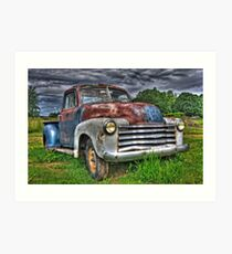 Old Rusty Chevy Pickup Art Print