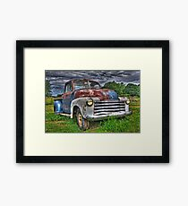 Old Rusty Chevy Pickup Framed Print