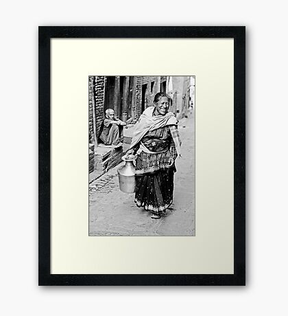 Woman in Bhaktapur Framed Print